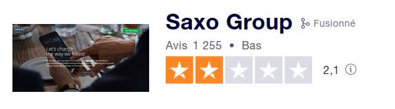 Les avis des clients de Saxo Banque