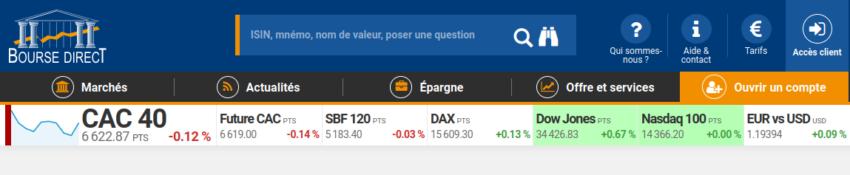 PEA Bourse direct