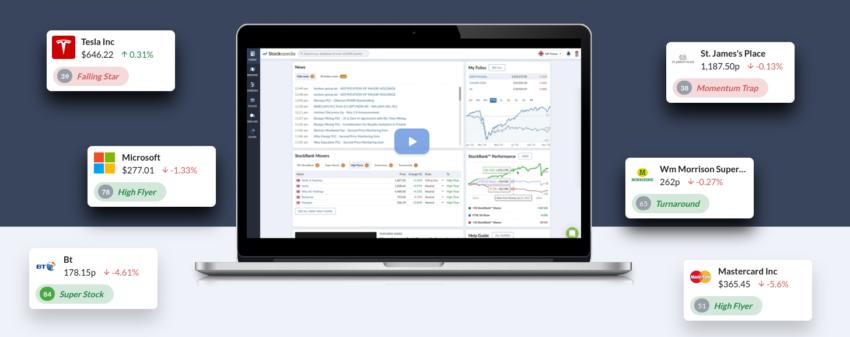 Screening d'actions avec le site de bourse Stockopedia.